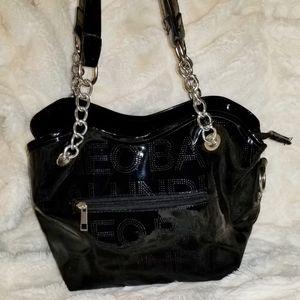 Balundieo black shiny handbag
